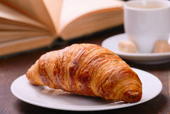 Coffee & croissant Royalty Free Stock Image