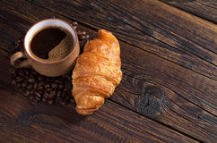 Coffee and croissant Stock Photography