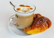Coffee and croissant. Stock Photo