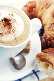 Coffee and croissants Royalty Free Stock Photos