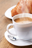 Coffee with croissants Royalty Free Stock Photography