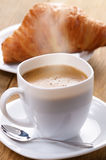 Coffee with croissants Stock Photo