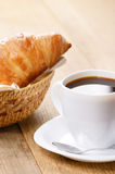 Coffee with croissants Stock Image