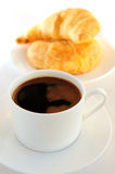 Coffee and croissants Royalty Free Stock Photo