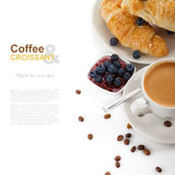 Coffee with croissants Royalty Free Stock Image