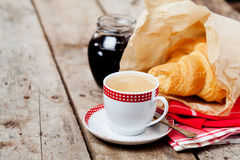 Coffee and croissants Stock Photography