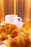 Coffee with croissants snack Royalty Free Stock Photo