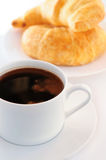 Coffee and croisssants Stock Photo