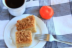 Coffee Crumb cake Royalty Free Stock Photo