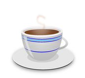 Coffee Cup. Steaming hot cup of coffee Stock Photos