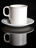 Coffee cup. Photo of a coffee cup with black background Stock Photos