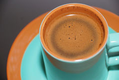 Coffee cup. Green ceramic coffee cup close up Stock Photos