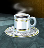 Coffee Cup. With small smoke Royalty Free Stock Images