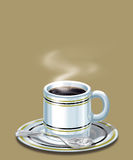 Coffee Cup. With small smoke Stock Photo