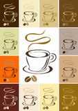 Coffee cup. Vector illustration of coffee cup with color variations Royalty Free Stock Images