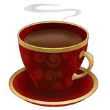 Coffee cup. An illustration of a hot coffee cup Royalty Free Stock Photo