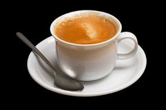 Coffee cup. Isolated on black Stock Image
