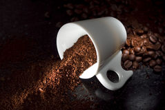Coffee Cup. Full of coffee powder Royalty Free Stock Image