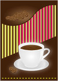 Coffee cup. Template designs for coffee shop, bar and restaurant Stock Photos