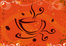 Coffee cup illustration Stock Image