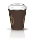 Coffee cup. Vector illustration of a portable coffee cup Stock Illustration