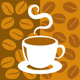 Coffee cup. Cup of coffee with abstract background Royalty Free Stock Photography