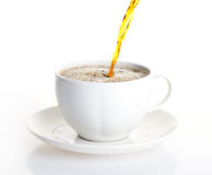 Coffee cup. Pour coffee into a cup Stock Images