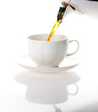 Coffee cup. Pour coffee into a cup Stock Photography