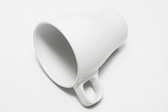 Coffee Cup. White Coffee Cup on White Background Stock Photography