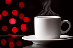 Coffee cup. Cup of coffee on abstract color background Royalty Free Stock Photography