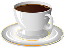 Coffee cup. On the saucer, illustration Stock Image