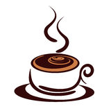 Coffee Cup. An illustration of a coffee cup with steam Royalty Free Stock Image