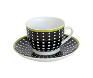 Coffee cup. Small coffee cup with spots pattern and clipping path included Royalty Free Stock Image