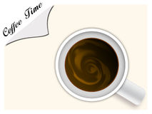 Coffee cup. With milk inside; enjoy your coffee time Royalty Free Stock Photography