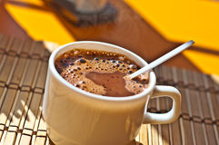 Coffee cup. On white background Stock Images