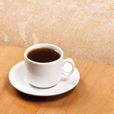 Coffee cup. On wooden table Stock Image