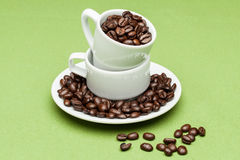 Coffee Cup. Cup on the green background Stock Image