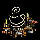 Coffee cup. In words. A vector illustration Royalty Free Stock Image