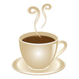 Coffee cup. The  illustration white background Stock Photos