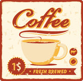 Coffee cup. Banner with coffee cup in retro style Royalty Free Stock Photos