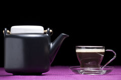 Coffee cup. On a purple background Stock Photography