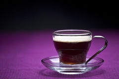 Coffee cup. On a purple background Royalty Free Stock Photos