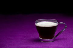 Coffee cup. On a purple background Stock Photo