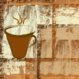 Coffee cup. On grunge background Royalty Free Stock Image