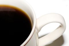 Coffee cup. Close up from top Stock Image