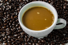 Coffee cup. And coffee  beans Stock Images