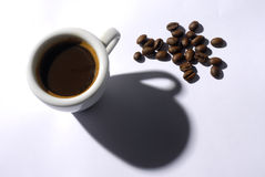 Coffee cup 3. Coffee cup with coffee beans Stock Photos