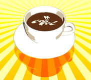 Coffee Cup. Illustration of coffee cup, with swirled cream coffee text Stock Images