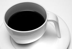 Coffee cup. Black and white of contemporary coffee cup Stock Photo