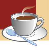 Coffee cup. And tablespoonoin dish Vector Illustration